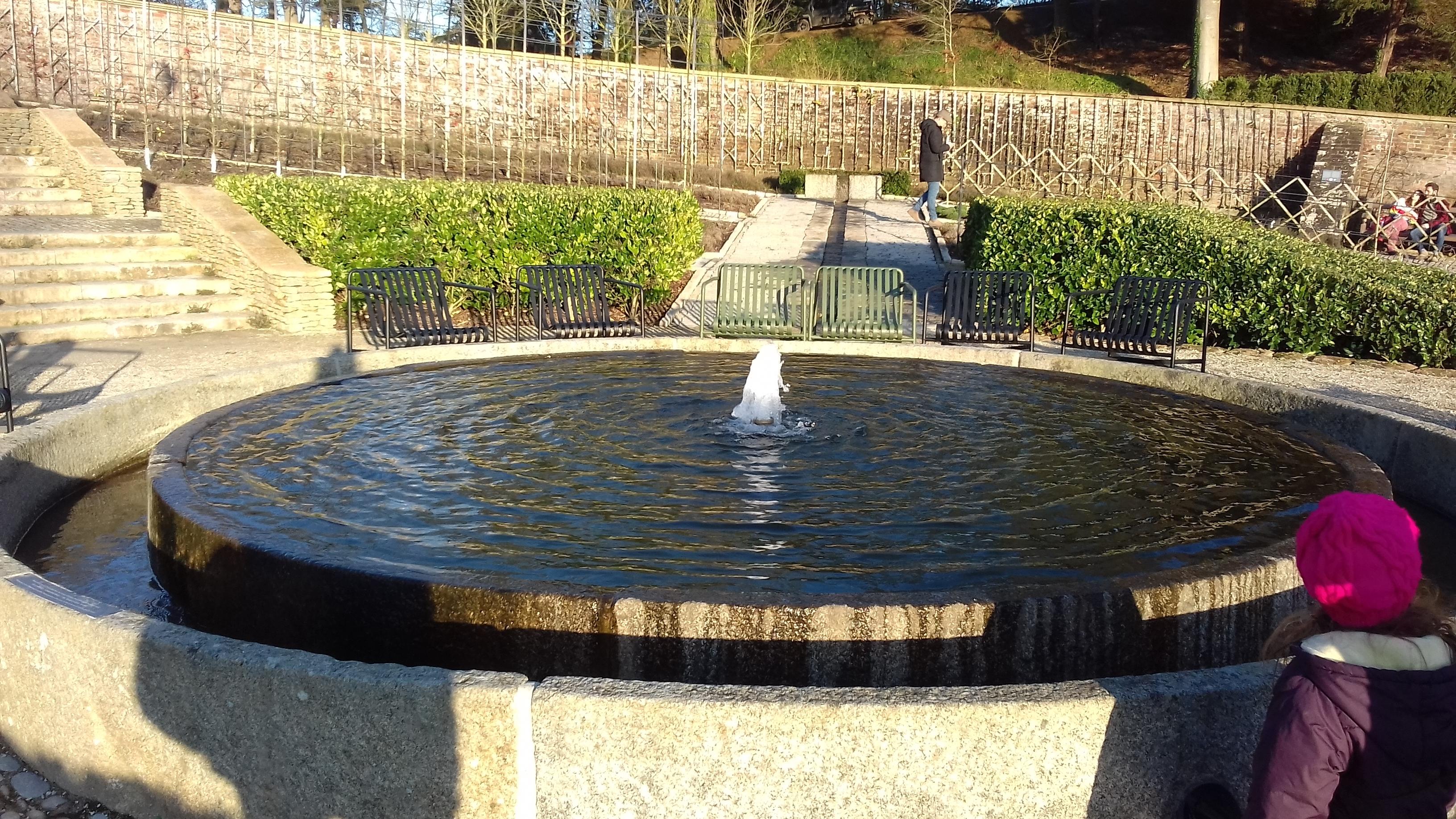 A circular fountain