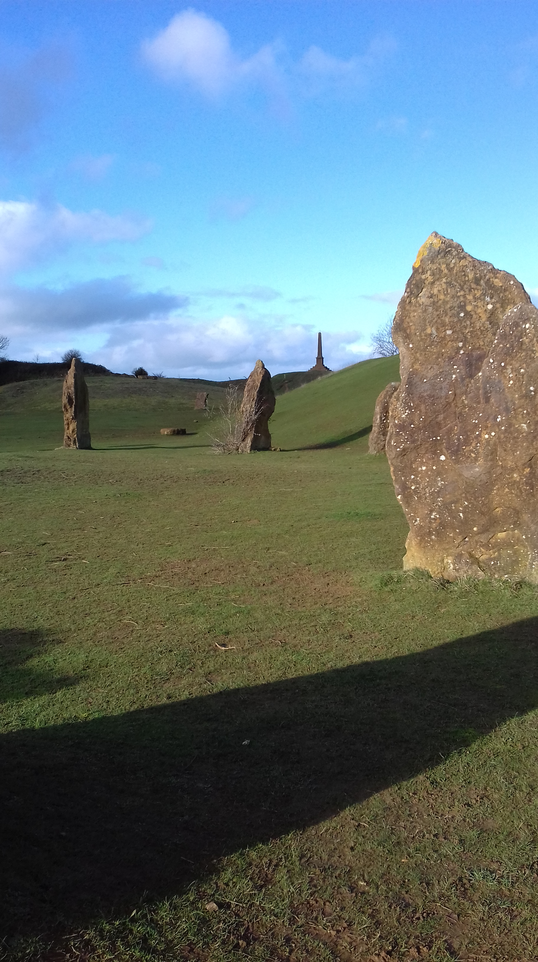 Stone circle at Ham Hill