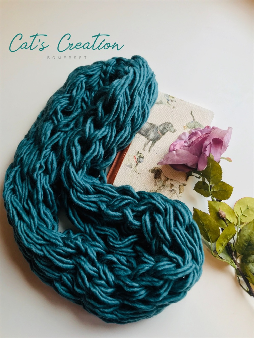 A snood in sea green