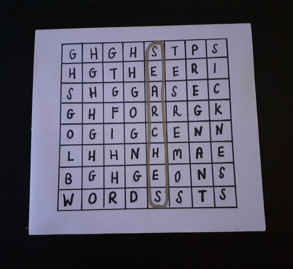 Wordsearch with the word searches circles