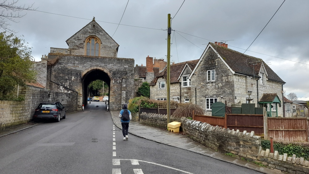 The stone archway into Langport